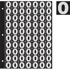 "1"" Silver on Black Engineer Grade Reflective 0-9"