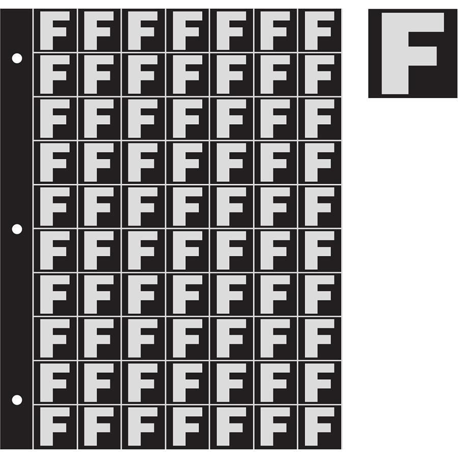 "1"" Silver on Black Engineer Grade Reflective ""F"""