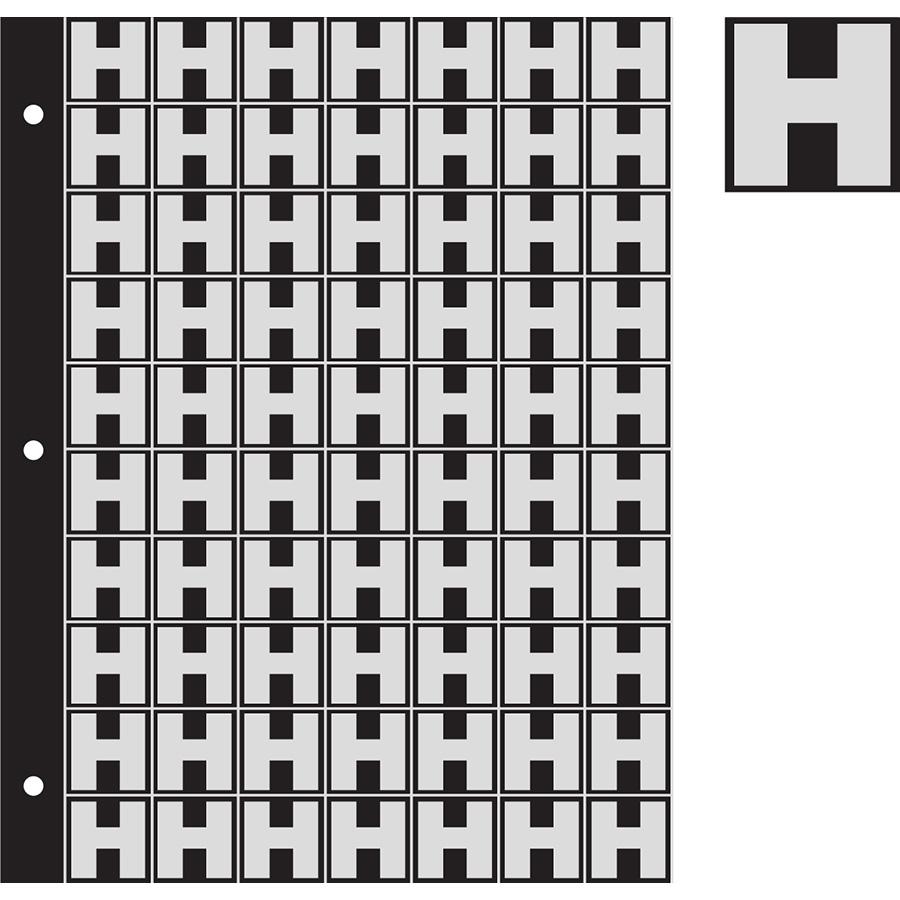 "1"" Silver on Black Engineer Grade Reflective ""H"""