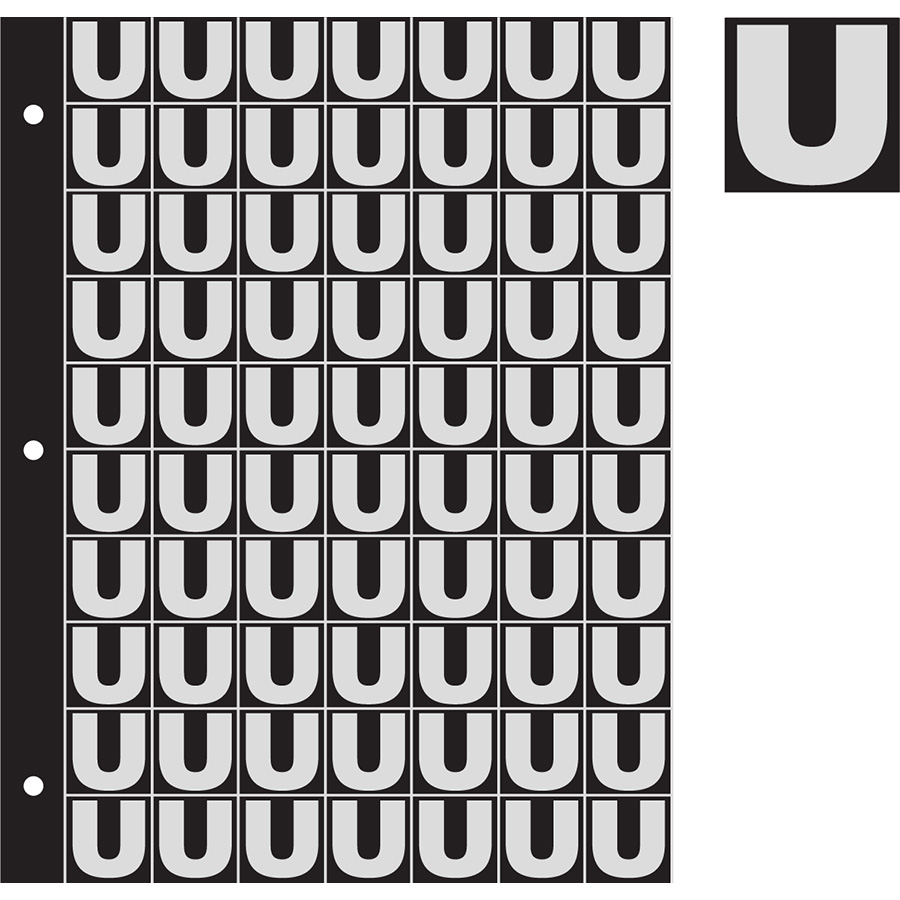 "1"" Silver on Black Engineer Grade Reflective ""U"""