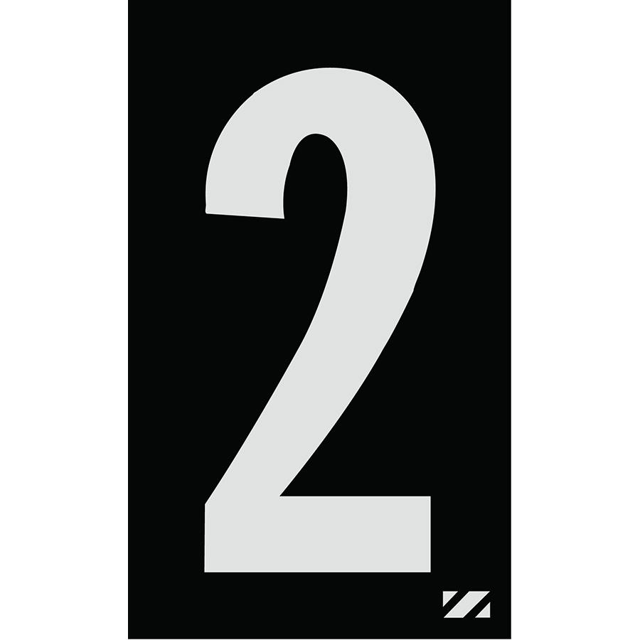 "2"" Silver on Black Engineer Grade Reflective ""2"""