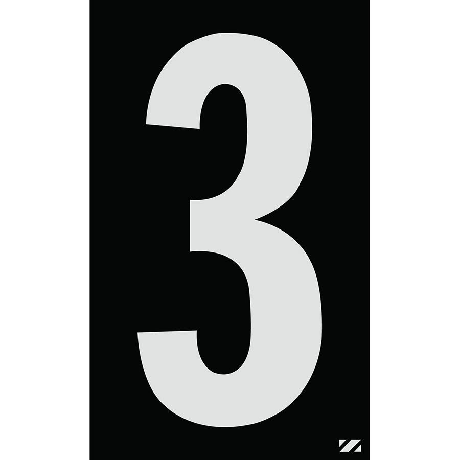"2.5"" Silver on Black Engineer Grade Reflective ""3"""
