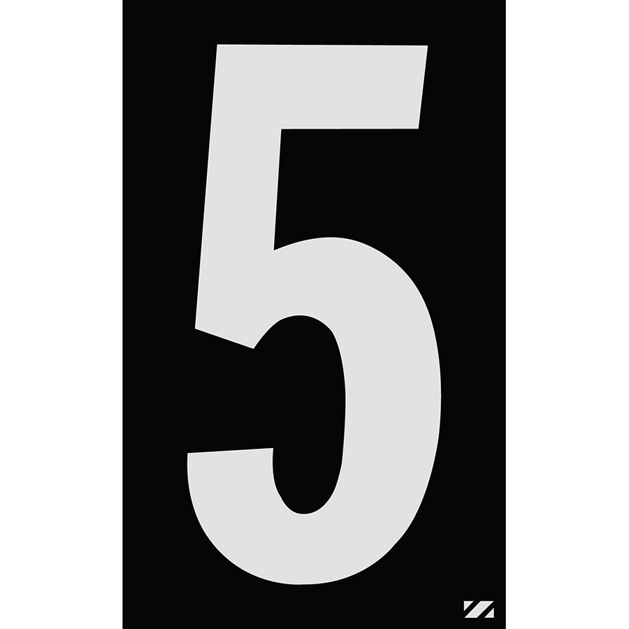 "2.5"" Silver on Black Engineer Grade Reflective ""5"""