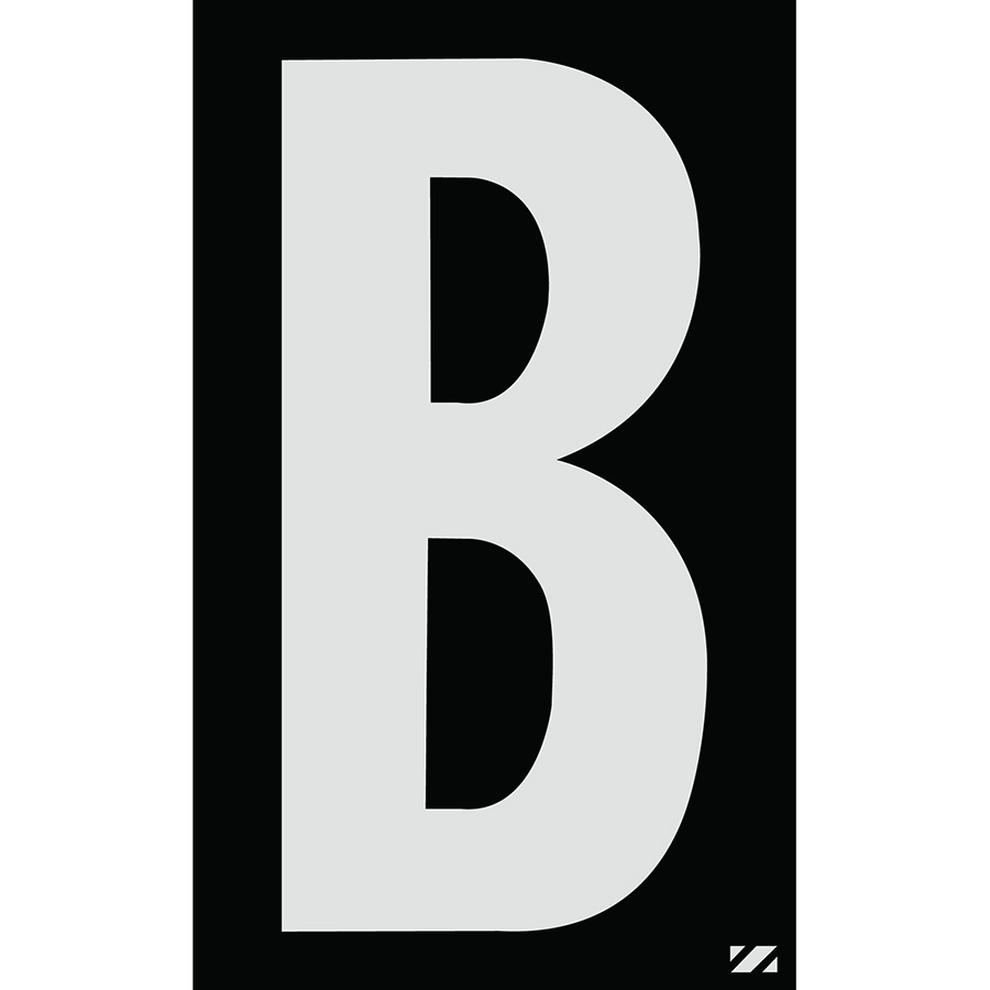 "2.5"" Silver on Black Engineer Grade Reflective ""B"""