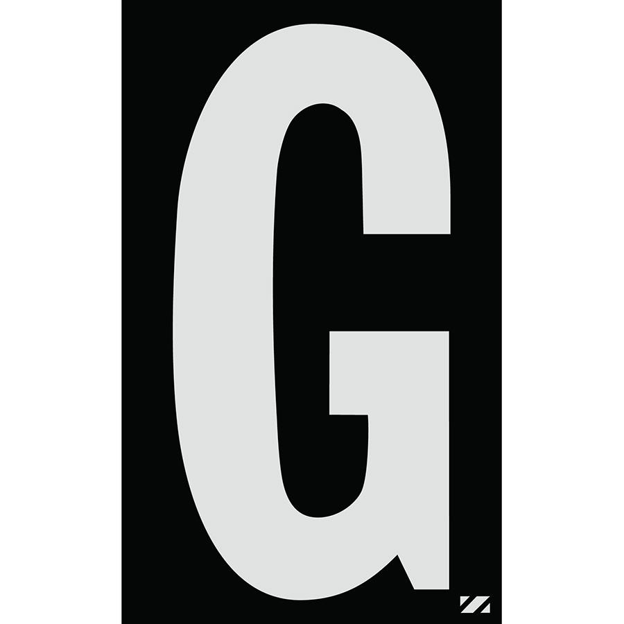 "2.5"" Silver on Black Engineer Grade Reflective ""G"""