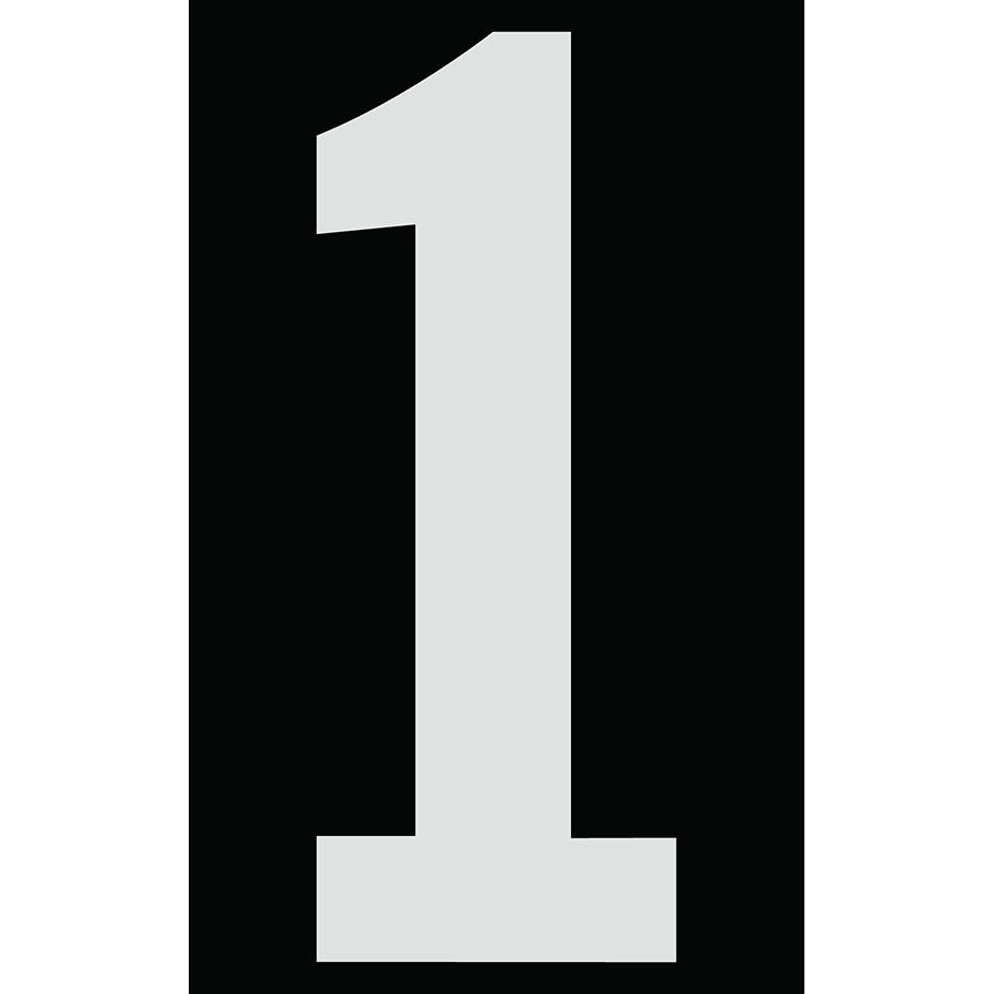 "3"" Silver on Black Engineer Grade Reflective ""1"""