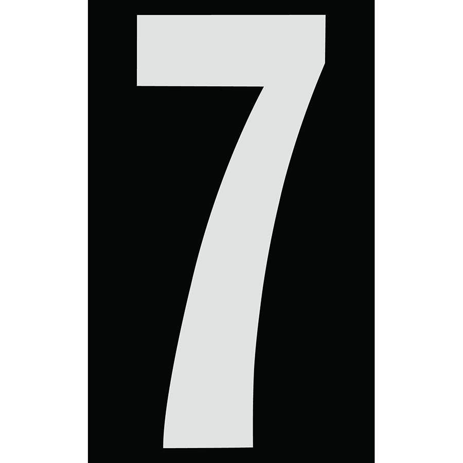 "3"" Silver on Black Engineer Grade Reflective ""7"""