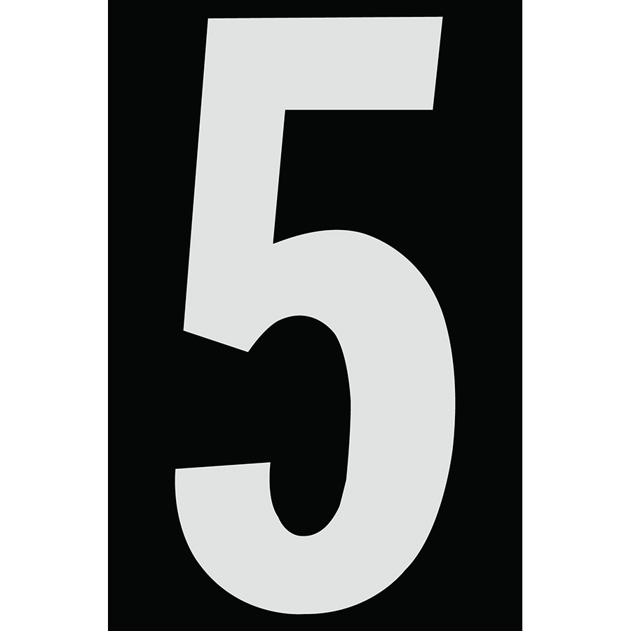 "4"" Silver on Black Engineer Grade Reflective ""5"""