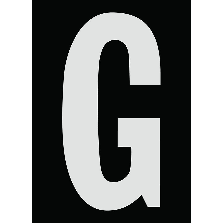"6"" Silver on Black Engineer Grade Reflective ""G"""