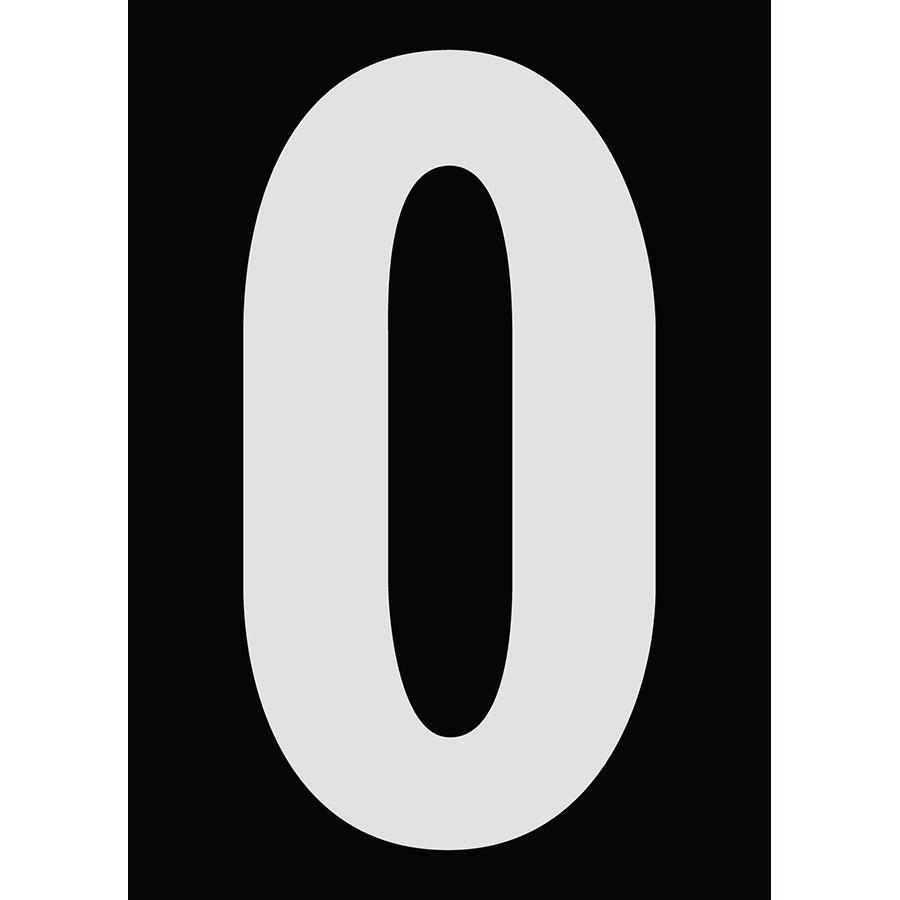 "6"" Silver on Black Engineer Grade Reflective ""O"""