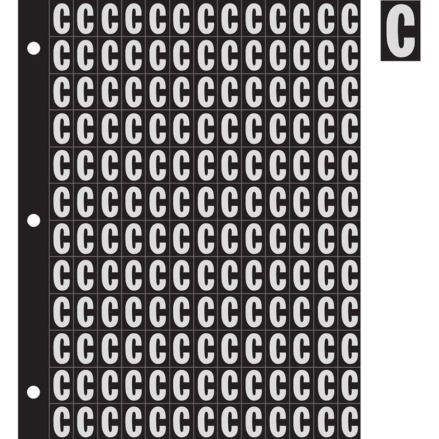 "0.78"" Silver on Black Engineer Grade Reflective ""C"""