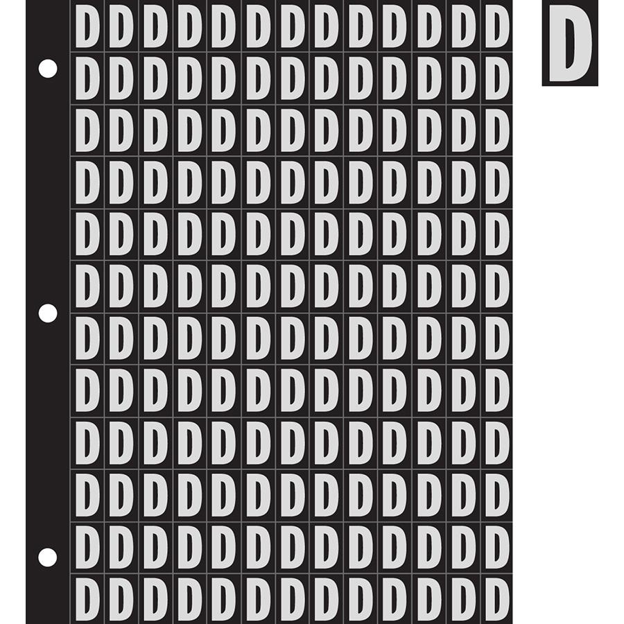 "0.78"" Silver on Black Engineer Grade Reflective ""D"""
