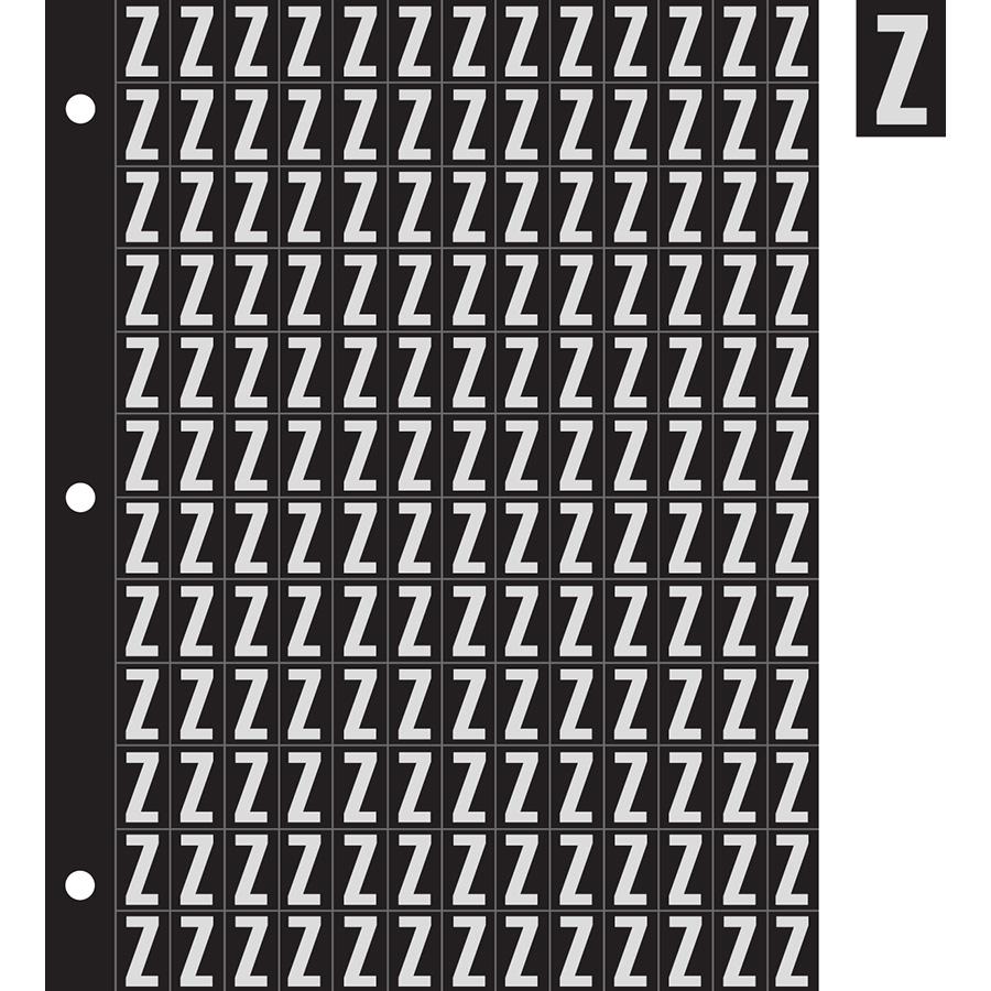 "0.78"" Silver on Black Engineer Grade Reflective ""Z"""