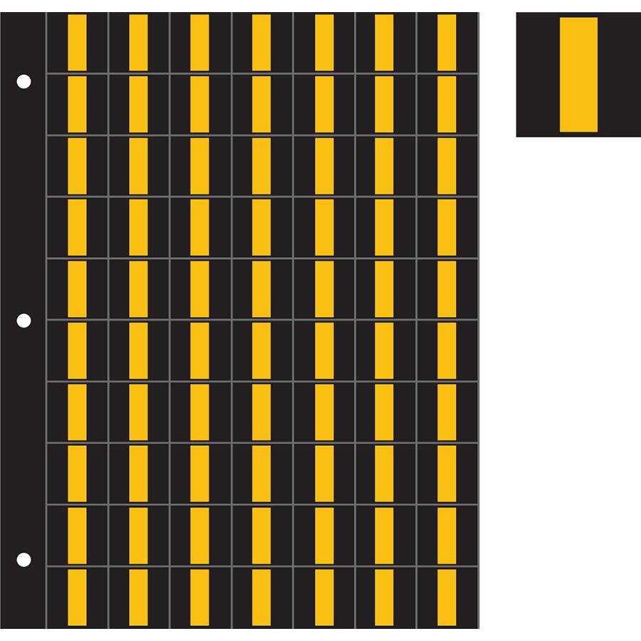"1"" Yellow on Black Engineer Grade Reflective ""I"""