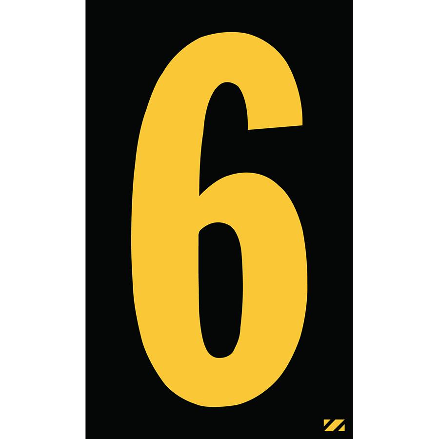 "2"" Yellow on Black Engineer Grade Reflective ""6"""