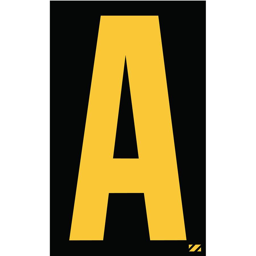 "2.5"" Yellow on Black Engineer Grade Reflective ""A"""