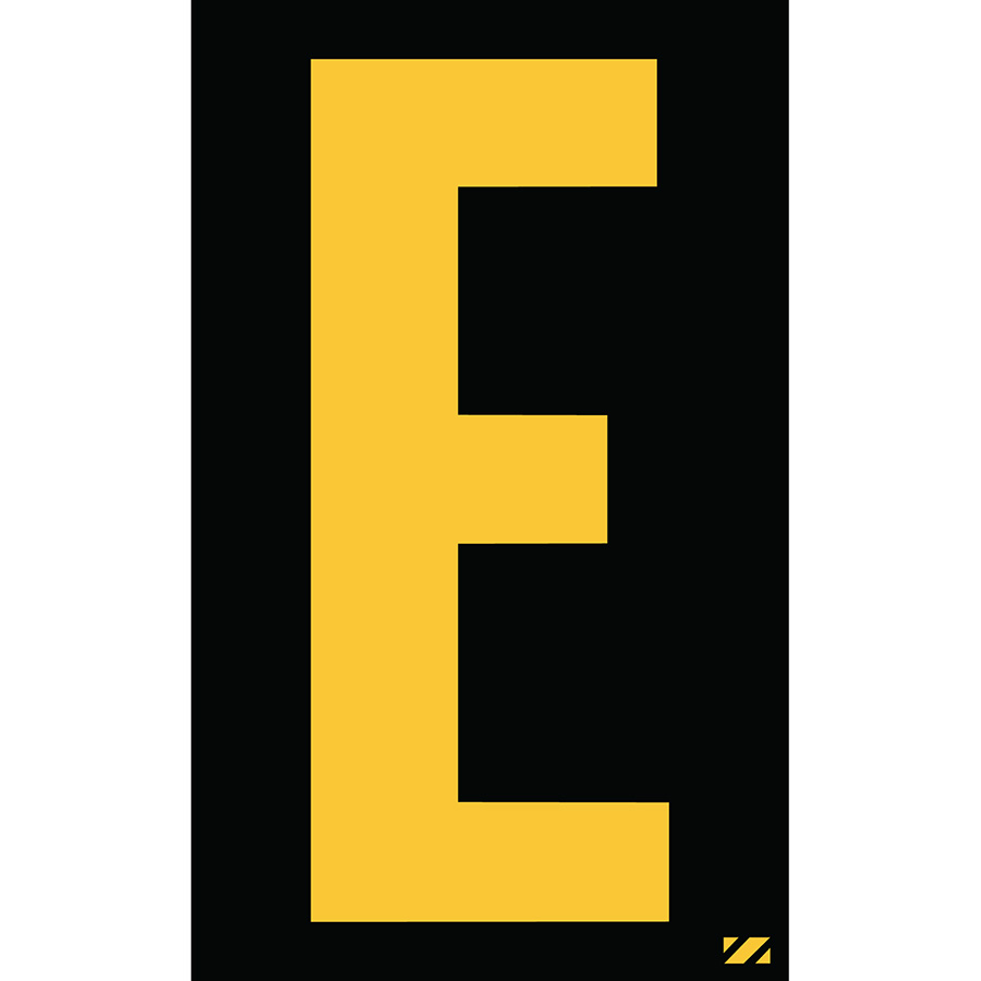 "2"" Yellow on Black Engineer Grade Reflective ""E"""