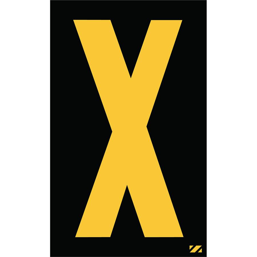 "2"" Yellow on Black Engineer Grade Reflective ""X"""