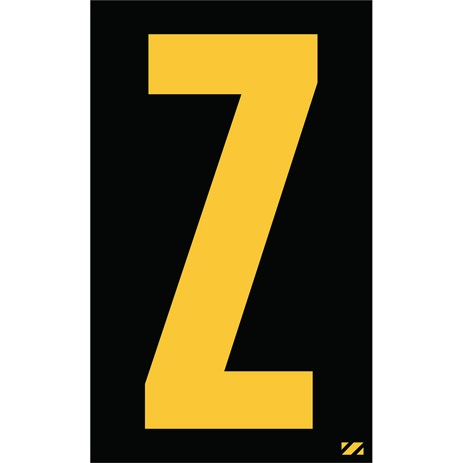 "2"" Yellow on Black Engineer Grade Reflective ""Z"""