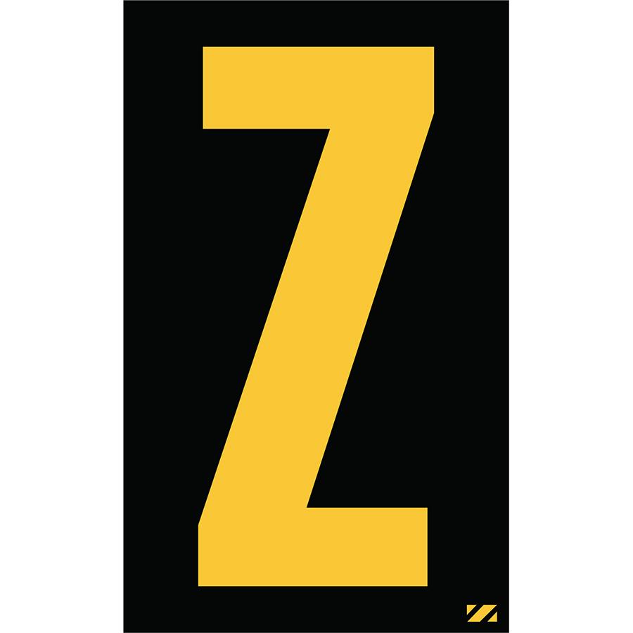 "2.5"" Yellow on Black Engineer Grade Reflective ""Z"""