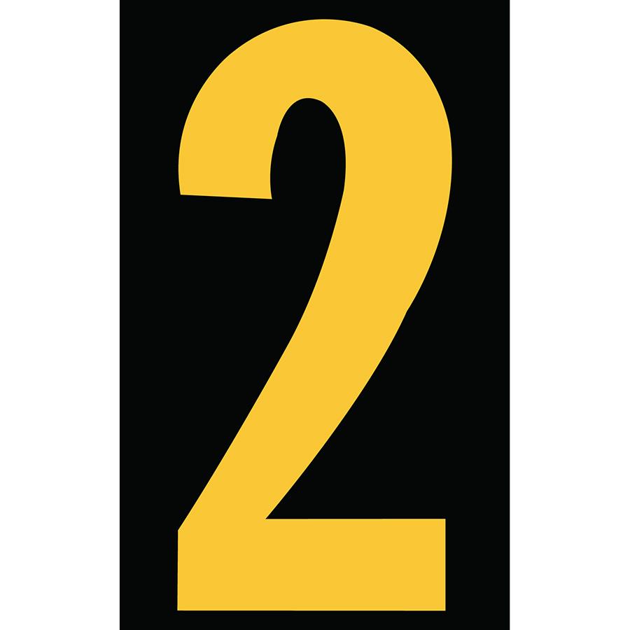 "3"" Yellow on Black Engineer Grade Reflective ""2"""