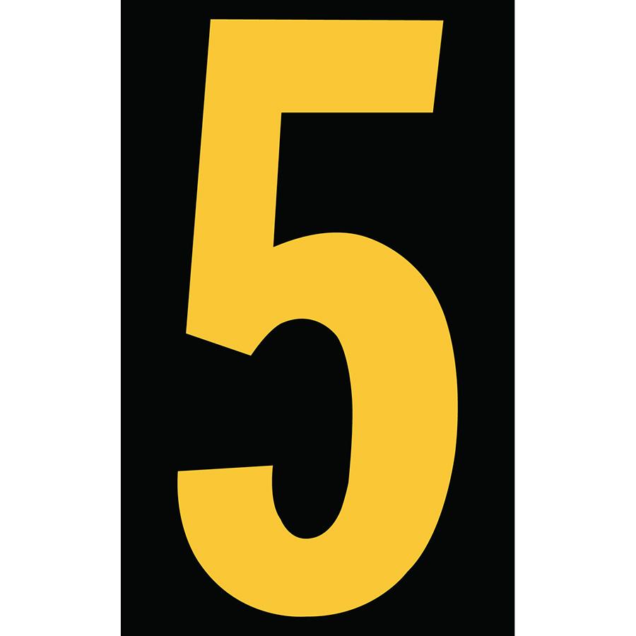 "3"" Yellow on Black Engineer Grade Reflective ""5"""