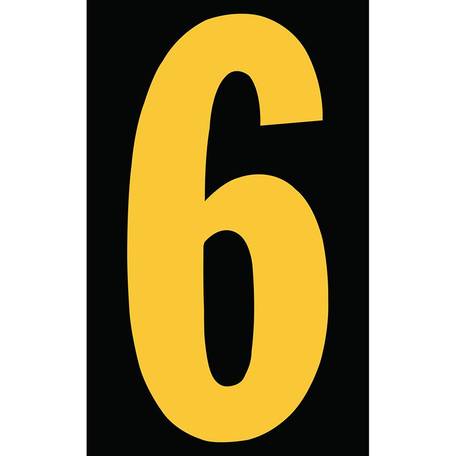 "3"" Yellow on Black Engineer Grade Reflective ""6"""