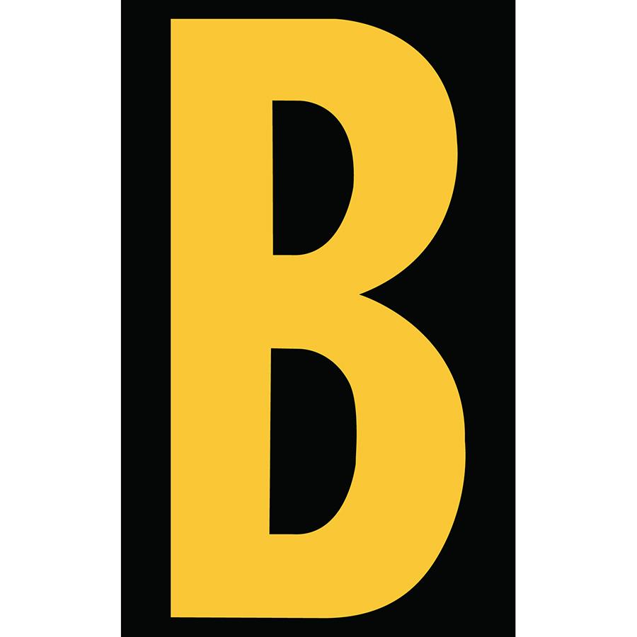 "3"" Yellow on Black Engineer Grade Reflective ""B"""