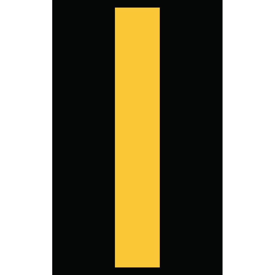 "3"" Yellow on Black Engineer Grade Reflective ""I"""