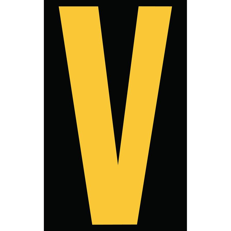 "3"" Yellow on Black Engineer Grade Reflective ""V"""