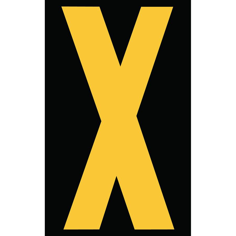 "3"" Yellow on Black Engineer Grade Reflective ""X"""