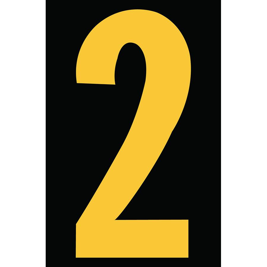 "4"" Yellow on Black Engineer Grade Reflective ""2"""