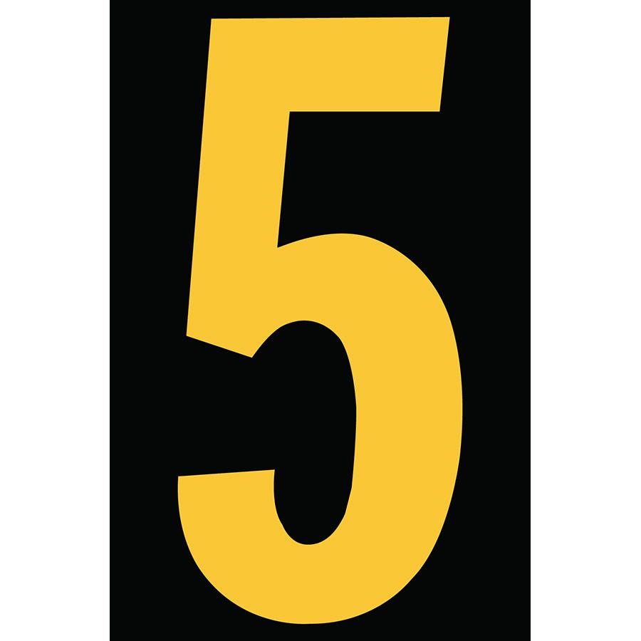 "4"" Yellow on Black Engineer Grade Reflective ""5"""