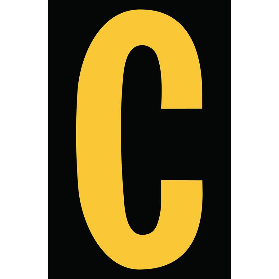 "4"" Yellow on Black Engineer Grade Reflective ""C"""