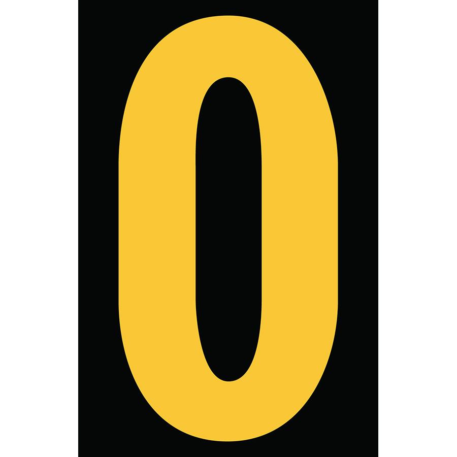 "4"" Yellow on Black Engineer Grade Reflective ""O"""