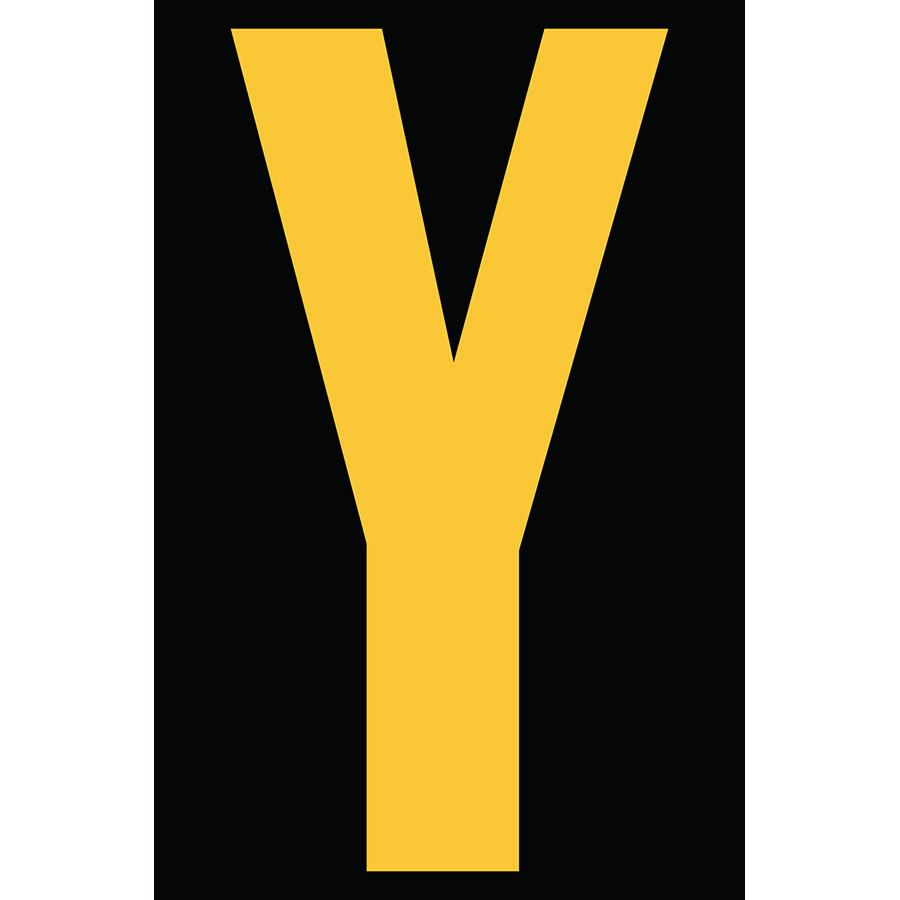 "4"" Yellow on Black Engineer Grade Reflective ""Y"""