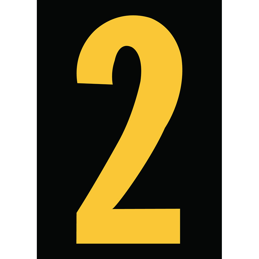 "6"" Yellow on Black Engineer Grade Reflective ""2"""
