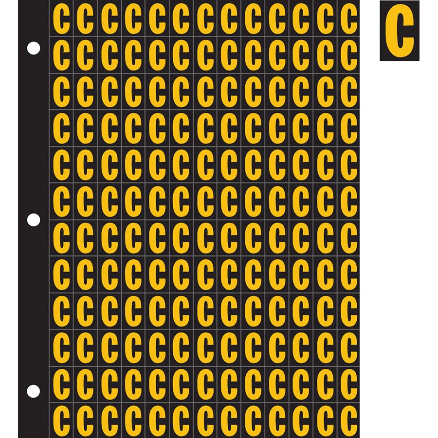 "0.78"" Yellow on Black Engineer Grade Reflective ""C"""