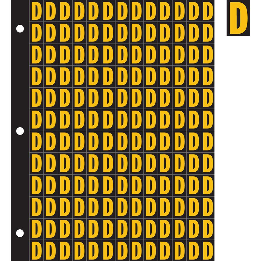 "0.78"" Yellow on Black Engineer Grade Reflective ""D"""