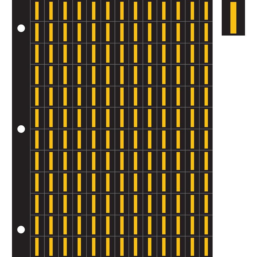 "0.78"" Yellow on Black Engineer Grade Reflective ""I"""