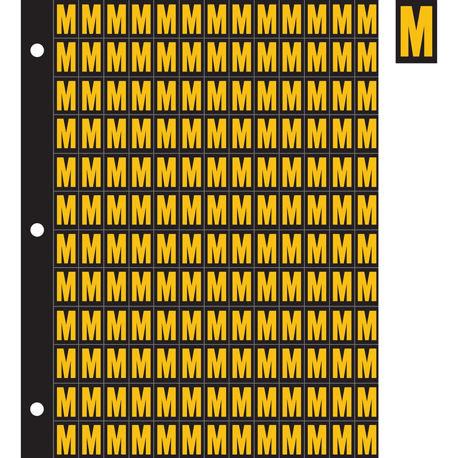 "0.78"" Yellow on Black Engineer Grade Reflective ""M"""