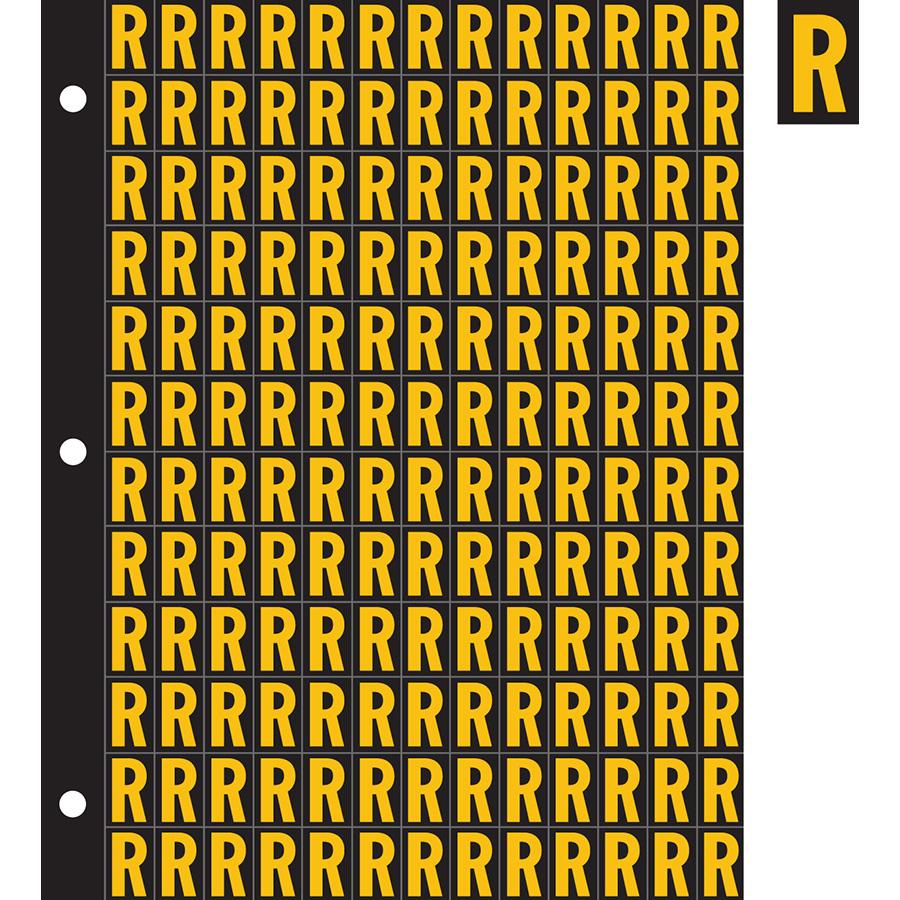 "0.78"" Yellow on Black Engineer Grade Reflective ""R"""