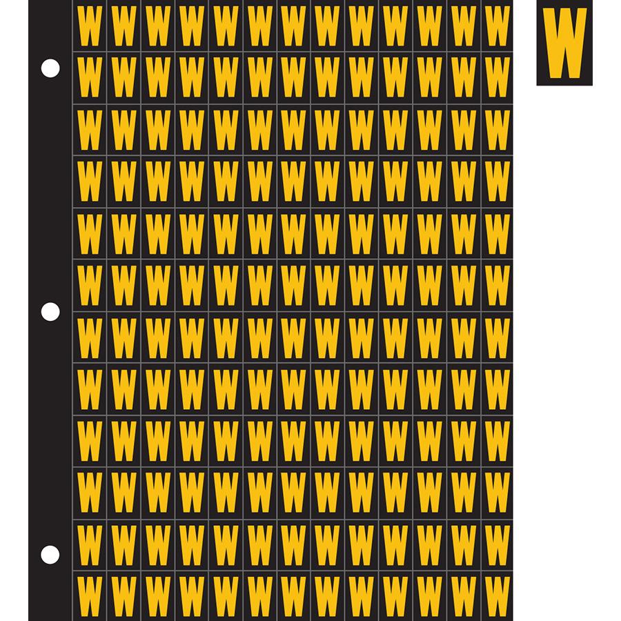 "0.78"" Yellow on Black Engineer Grade Reflective ""W"""
