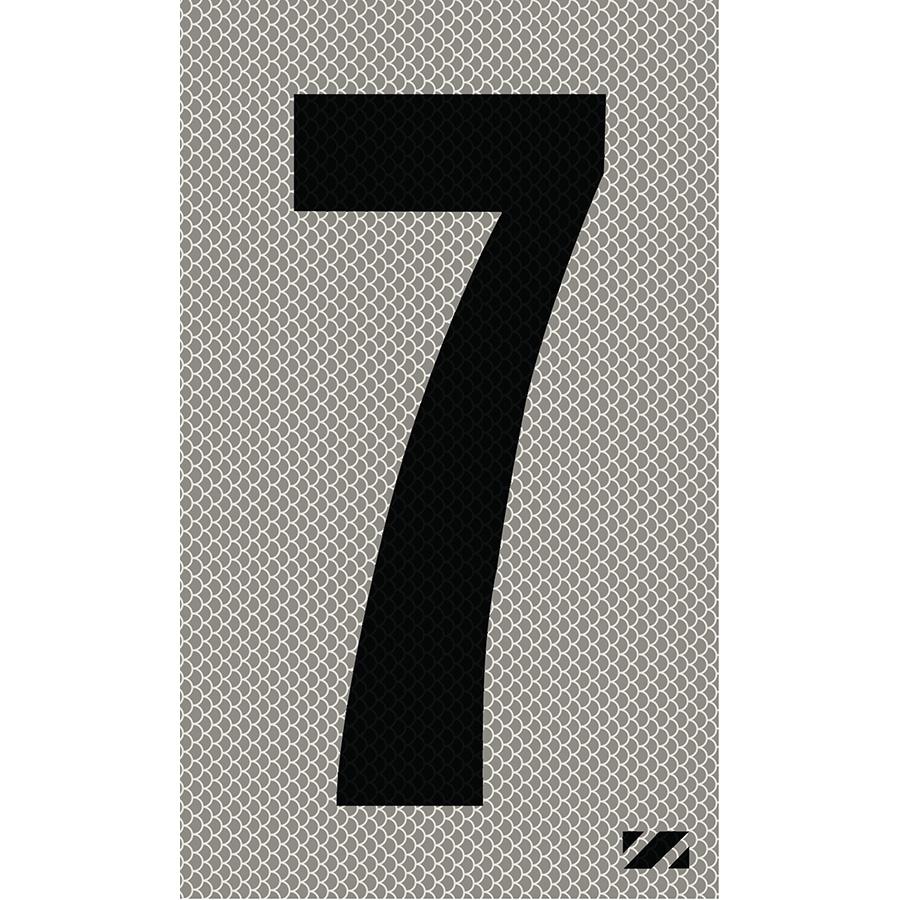"2"" Black on Silver High Intensity Reflective ""7"""