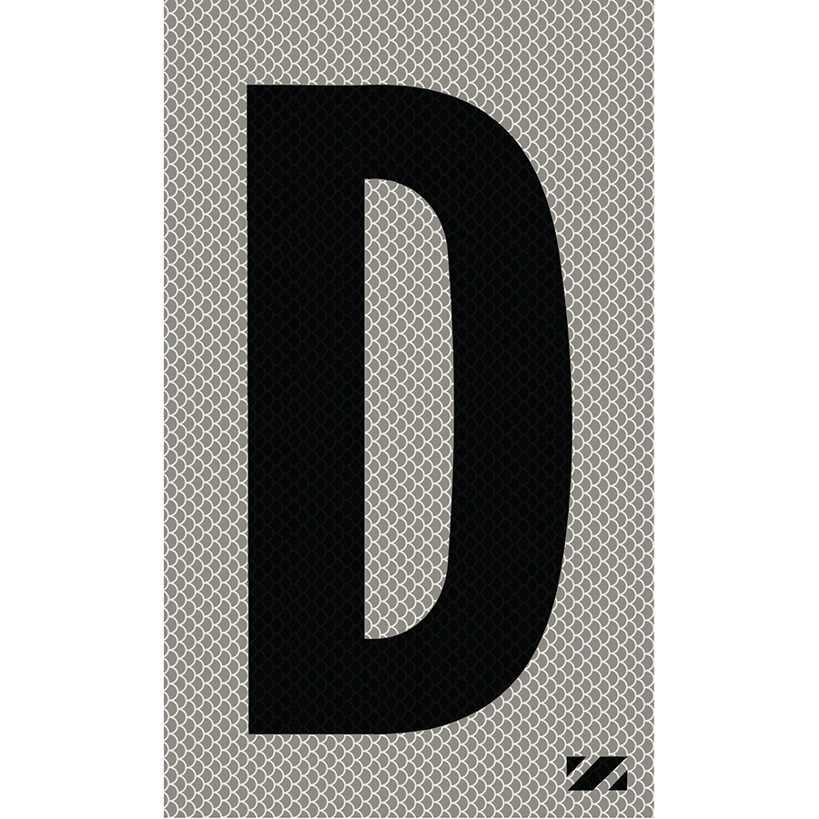 "2"" Black on Silver High Intensity Reflective ""D"""
