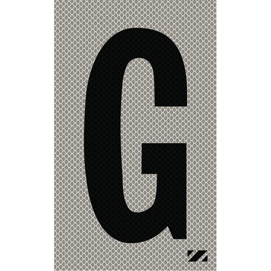 "2"" Black on Silver High Intensity Reflective ""G"""