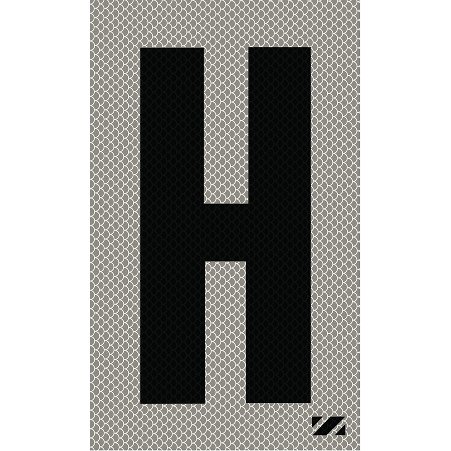 "2"" Black on Silver High Intensity Reflective ""H"""