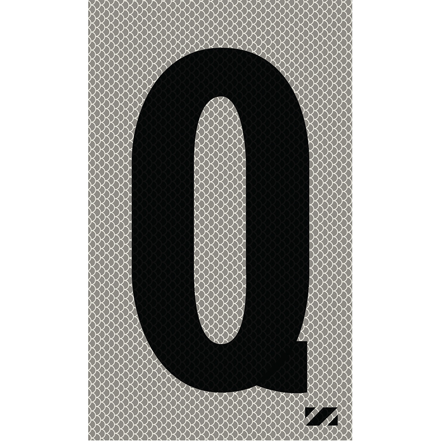 """2"""" Black on Silver High Intensity Reflective """"Q"""""""
