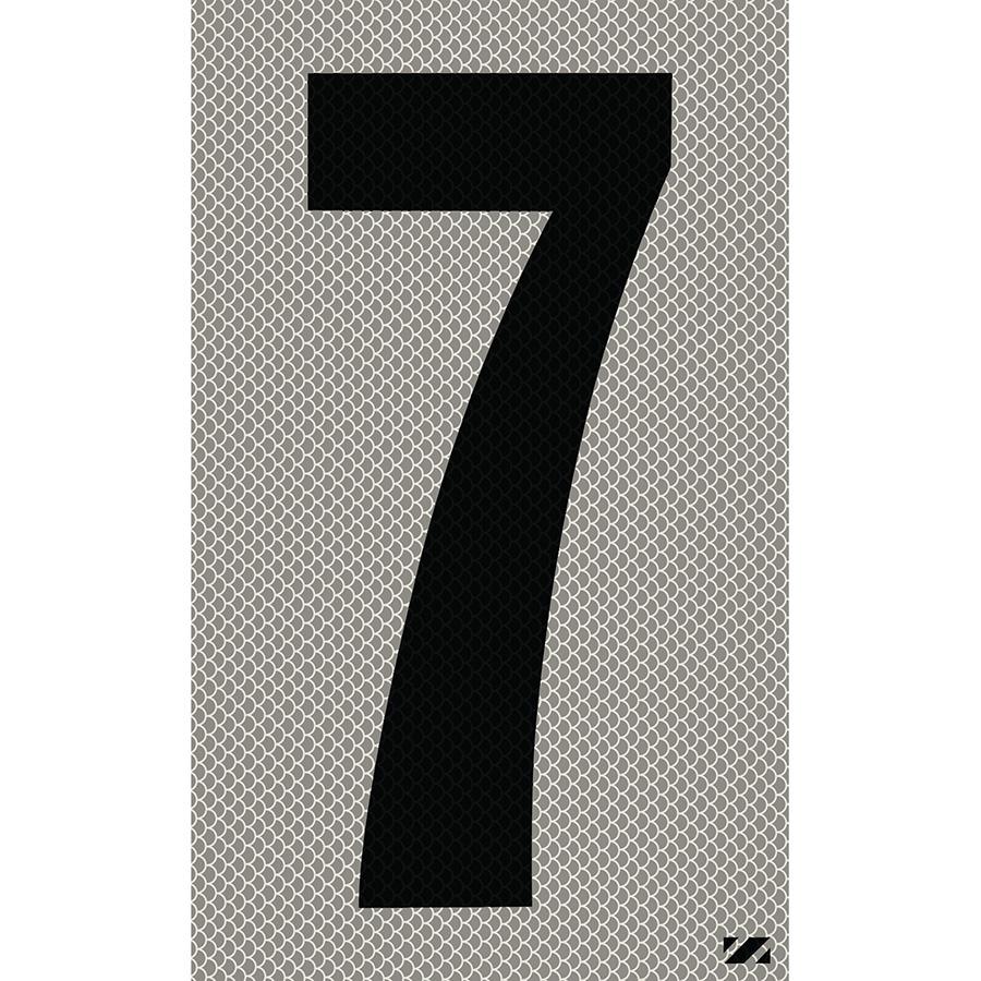 "2.5"" Black on Silver High Intensity Reflective ""7"""