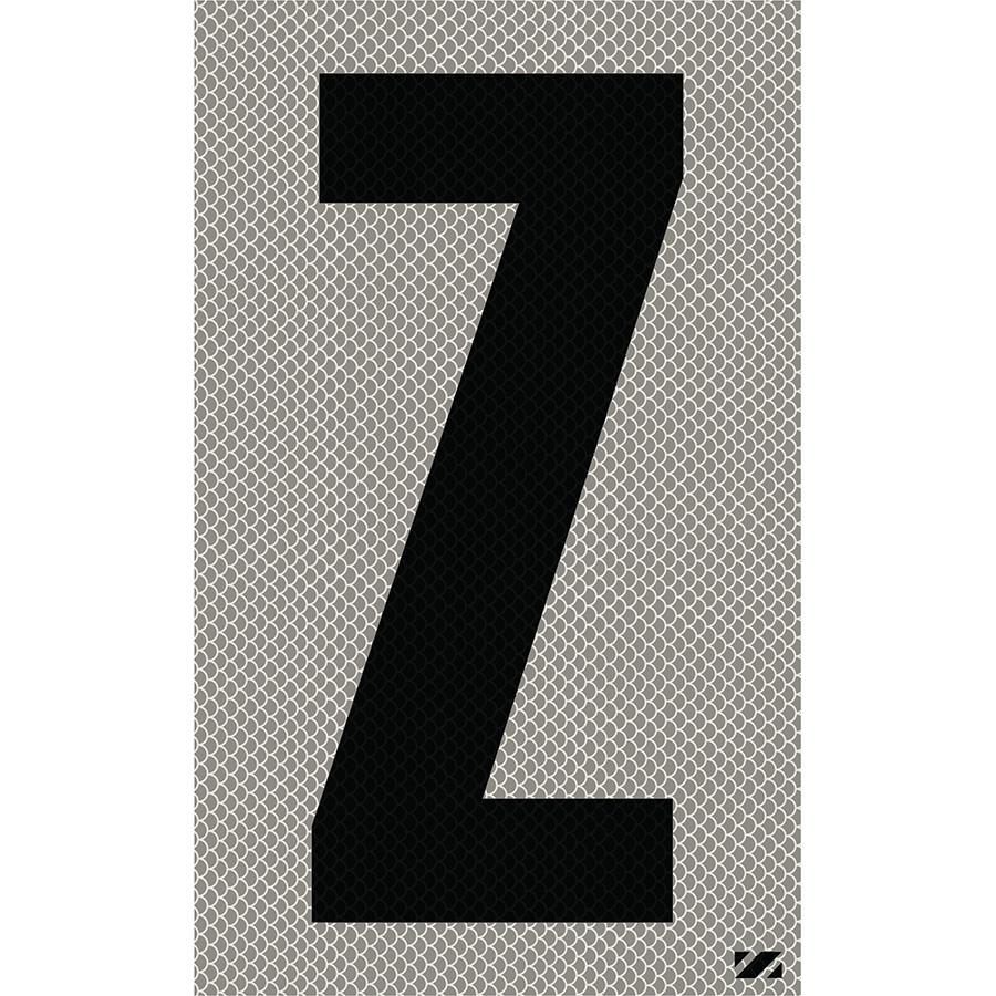 """2.5"""" Black on Silver High Intensity Reflective """"Z"""""""
